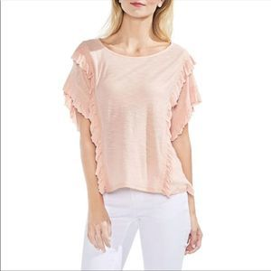 NWT Vince Camuto Ruffle Cotton Top